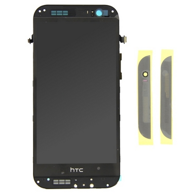 SCHERMO DISPLAY LCD VETRO E TOUCH SCREEN CON FRAME GRIGIO PER HTC ONE M8