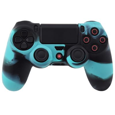 COVER IN SILICONE BLUE NERO PER CONTROLLER PS4 DUAL SHOCK 4