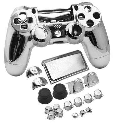 PS4 SLIM CONTROLLER GUSCIO DI RICAMBIO FULL CASE SET 4.0 CROMO