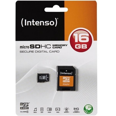MICRO SDHC HIGH CAPACITY 16GB CLASSE 4 INTENSO
