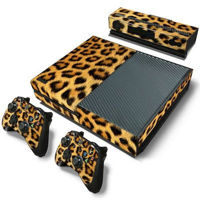 SET ADESIVI PATTERN SERIES DECALS SKIN VINYL LEOPARDO PER CONSOLE XBOX ONE