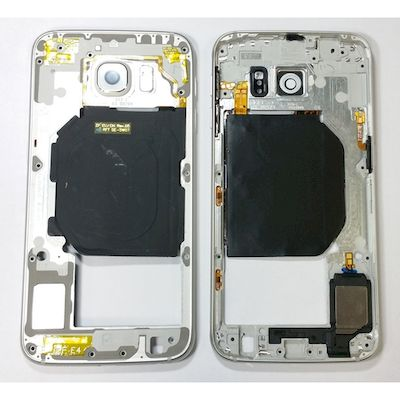 SCOCCA MIDDLE FRAME COVER BIANCO PER SAMSUNG GALAXY S6 G920